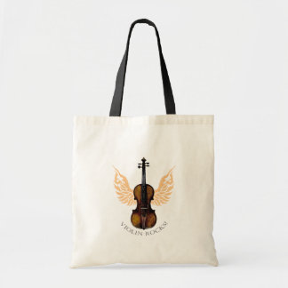 violin rocks tote bag