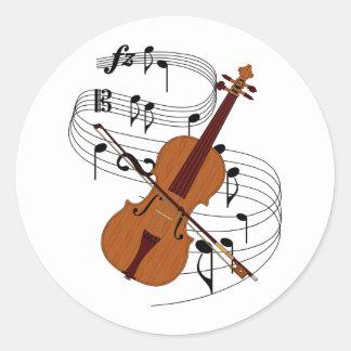 Violin Round Sticker