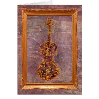 Violin Scrawl in Frame Card