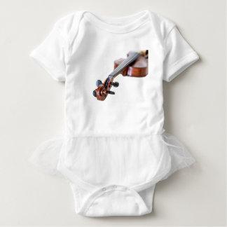 Violin scroll baby bodysuit