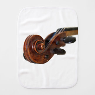 Violin Scroll Burp Cloth