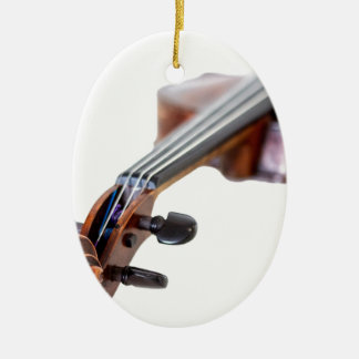 Violin scroll ceramic ornament