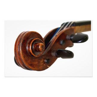 Violin Scroll Customised Stationery