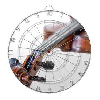Violin scroll dartboard