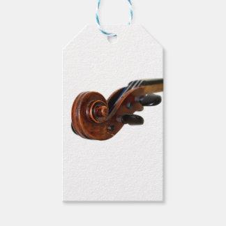 Violin Scroll Gift Tags