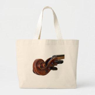 Violin Scroll Large Tote Bag