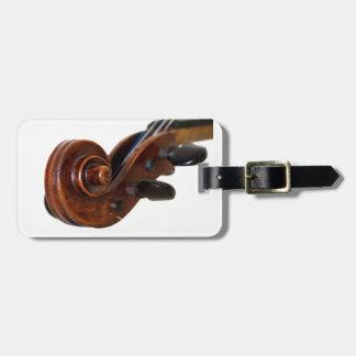 Violin Scroll Luggage Tag