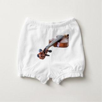 Violin scroll nappy cover