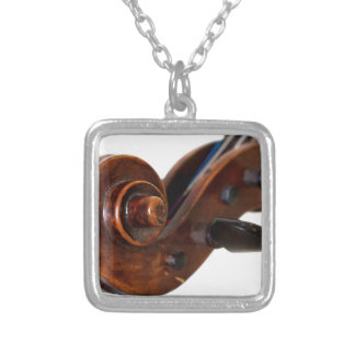 Violin Scroll Silver Plated Necklace