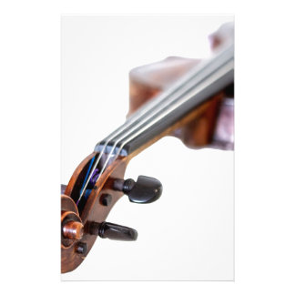 Violin scroll stationery