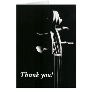 Violin Scroll Thank You Card