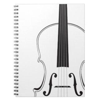Violin Silhouette Notebook