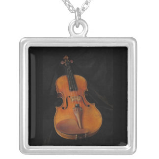 Violin Silver Plated Necklace