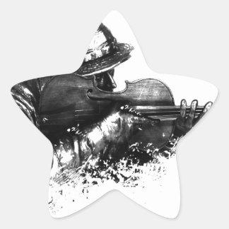 violin sniper star sticker