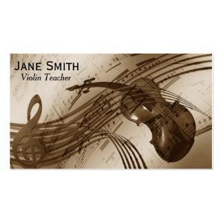 Violin Teacher music tutor string instrument Business Card Template