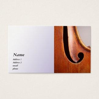 Violin / Viola Business Card