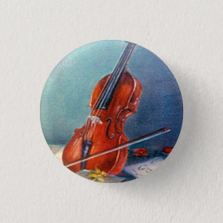 Violin/Violin 3 Cm Round Badge