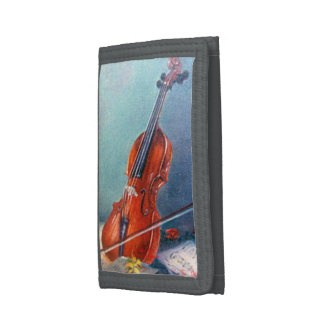 Violin/Violin Tri-fold Wallets