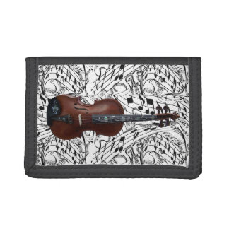 VIOLIN-WALLET TRIFOLD WALLETS