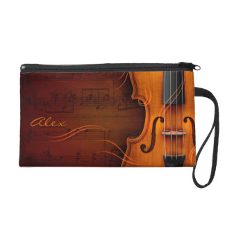 Violin Wristlet Clutches