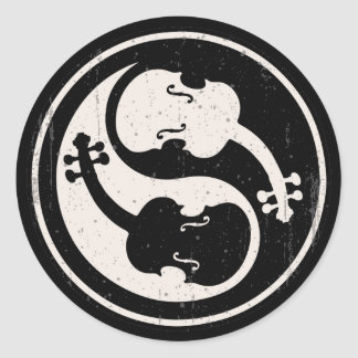 Violin Yang Classic Round Sticker