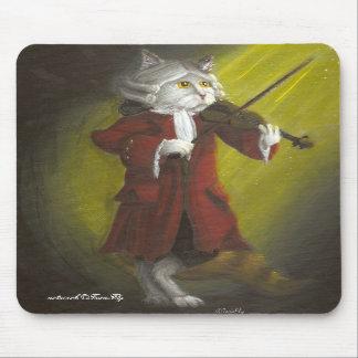 Violinist Cat mousepad