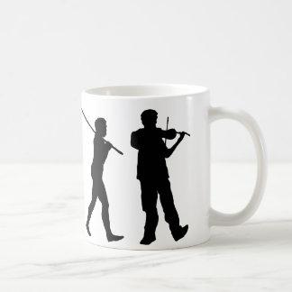Violinist Classic White Coffee Mug