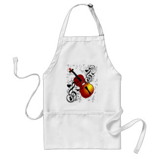 Violinist,Rock the House_ Standard Apron