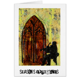 Violinist 'Season's Greetings' card