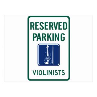 Violinists Parking Post Cards