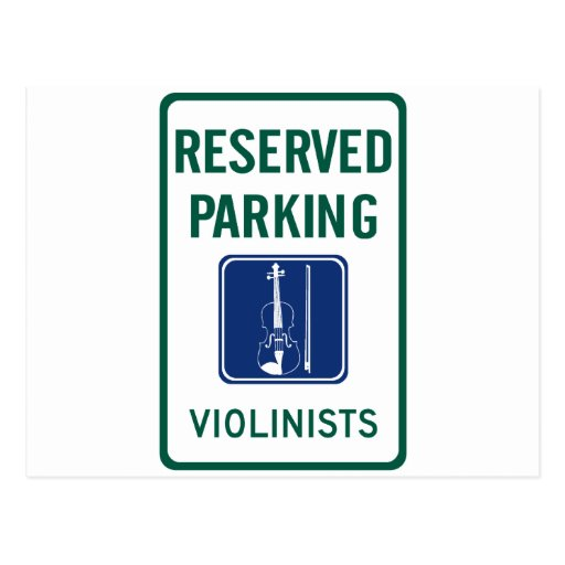 Violinists Parking Post Cards