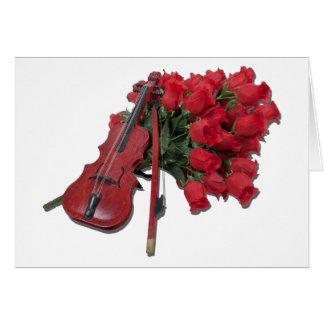 ViolinOnBouquetRoses012511 Card