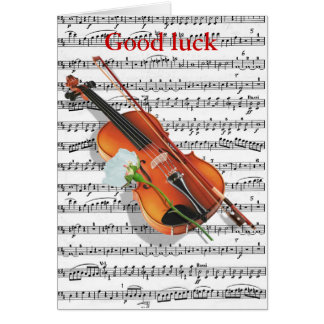 Violins and roses.... card