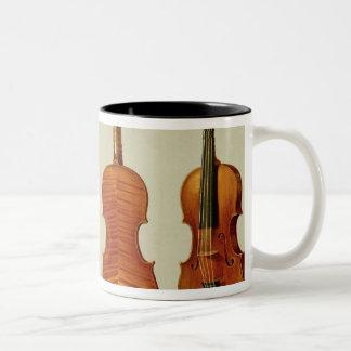 Violins (LtoR): the 'Alard' by Antonio Stradivariu Two-Tone Coffee Mug