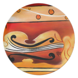 Vioselinna - violin backed beauty plate