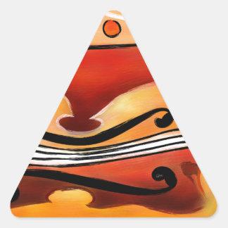 Vioselinna - violin backed beauty triangle sticker