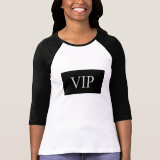 VIP BASEBALL SHIRT (BLACK AND WHITE VIP)