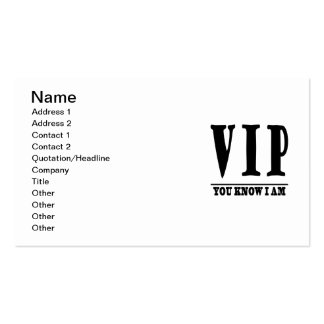 VIP PACK OF STANDARD BUSINESS CARDS