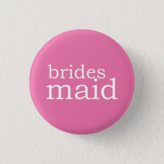 VIP Button | Bridesmaid Pink