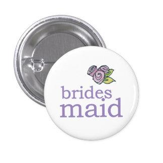 VIP Button   Bridesmaid Roses