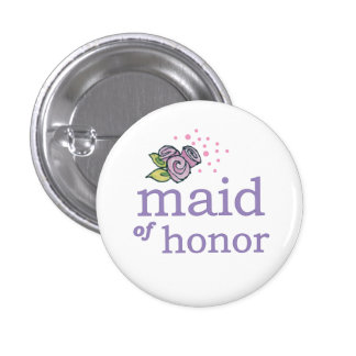 VIP Button   Maid of Honour Roses