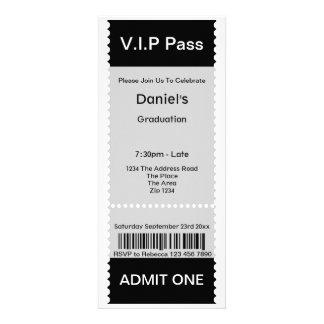 VIP Pass Graduation Party Admission Ticket Custom Invite