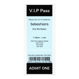 VIP Pass Party Admission Ticket Announcement