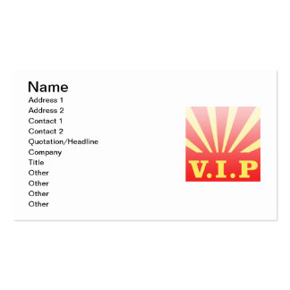 VIP sunburst Pack Of Standard Business Cards