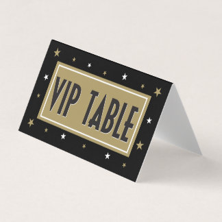 VIP Table Tent with gold stars Card