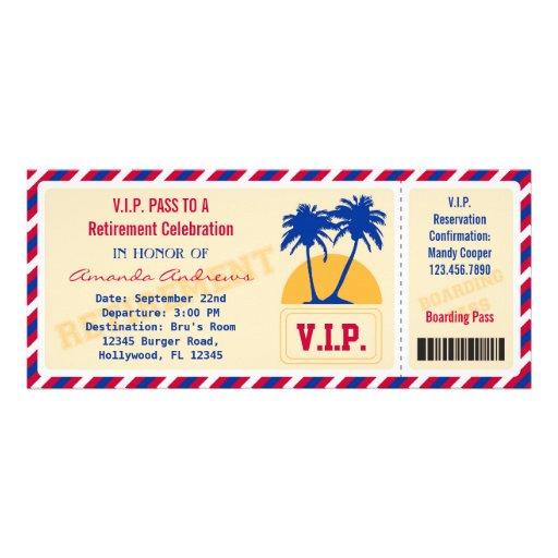 VIP Ticket Retirement Party Invitation