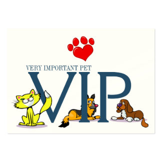VIP - Very Important Pet - SRF Pack Of Chubby Business Cards