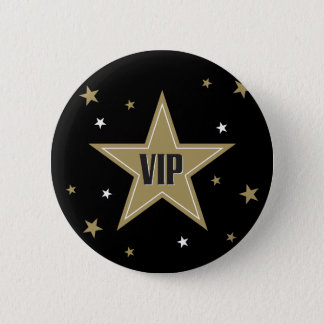 VIP with stars 6 Cm Round Badge