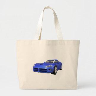 Viper Hard-Top Muscle Car: Blue Finish Jumbo Tote Bag