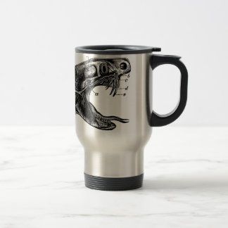 viper snake vintage illustration travel mug